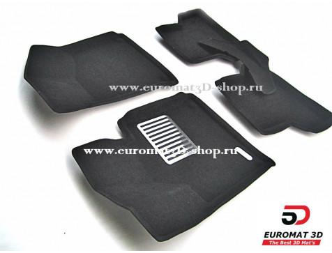 Текстильные 3D коврики Euromat в салон для AUDI A3 (2008-2013) № EM3D-001100