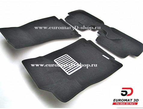 Текстильные 3D коврики Euromat в салон для AUDI A4 (2007-2015) № EM3D-001103