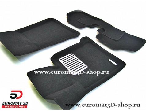 Текстильные 3D коврики Euromat в салон для BMW 1 (E87) (2007-2011) № EM3D-001200