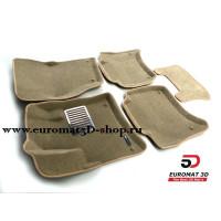 Текстильные 3D коврики Euromat в салон для VOLKSWAGEN Touareg (2010-) № EM3D-004101T Бежевые