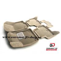 Текстильные 3D коврики Euromat в салон для SKODA Octavia A7 (2013-) № EM3D-004507T Бежевые