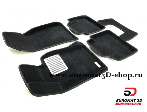 Текстильные 3D коврики Euromat в салон для BMW 4 (F32/33) (2012-) № EM3D-001221