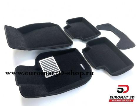 Текстильные 3D коврики Euromat в салон для BMW 3 (G20) (2019-) № EM3D-001225