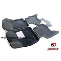 Текстильные 3D коврики Euromat в салон для SKODA Octavia A7 (2013-) № EM3D-004507G Серые