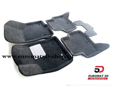 Текстильные 3D коврики Euromat в салон для AUDI A3 (2014-) № EM3D-004507G Серые